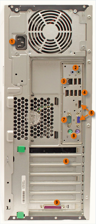 Задняя часть Системного Блока