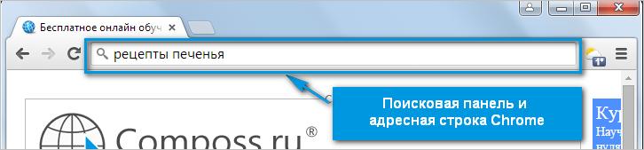 Поисковая панель Chrome