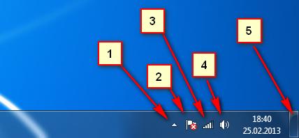 Дополнительные функции панели задач
