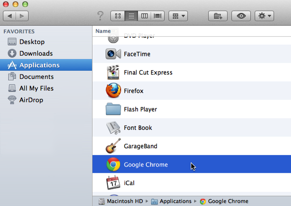 Хром на Mac