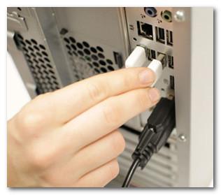 Подключение мыши через USB порт