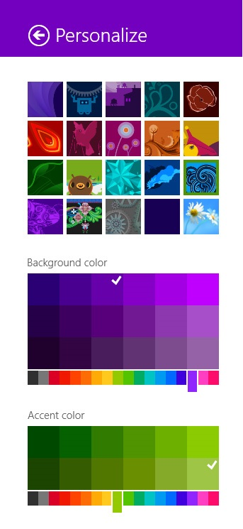 фоновое изображение и цветовая схема.