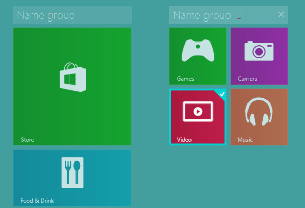 Название группы в Windows 8