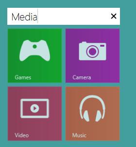 Ввод названия группы Windows 8