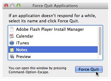 Option+Command+Esc: Окно принудительного завершения работы.