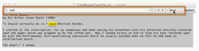 Command+F: Поиск слова или фразы
