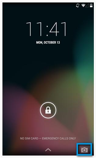 Доступ к камере из заблокированного экрана