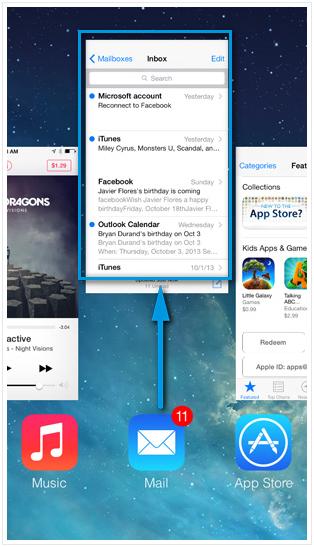 Закрытие приложения iPhone
