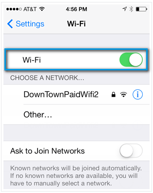 Как включить wi_fi iPhone