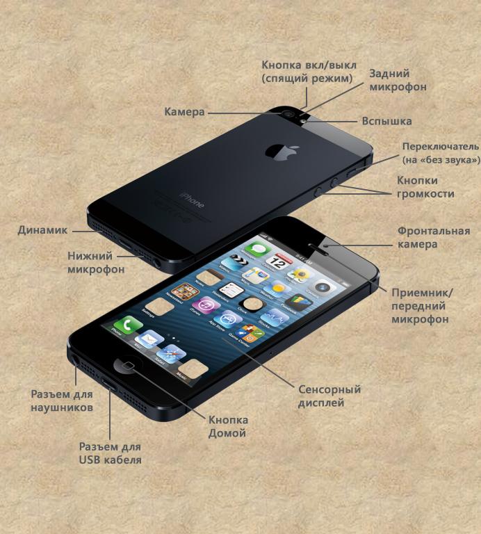 Кнопки и порты iPhone