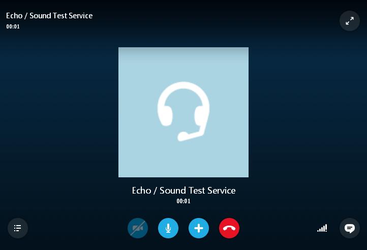 Тестовый звоно Skype