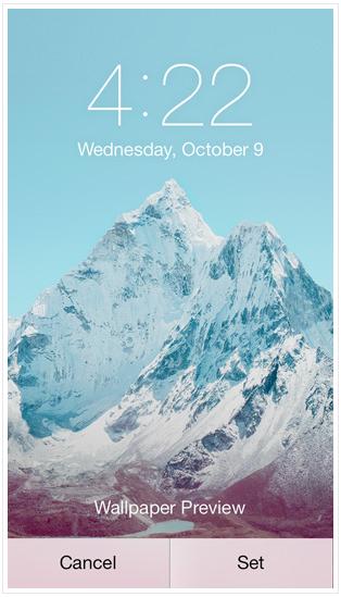 Установка фонового изображения iPhone