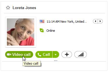 Видеозвонок в скайп