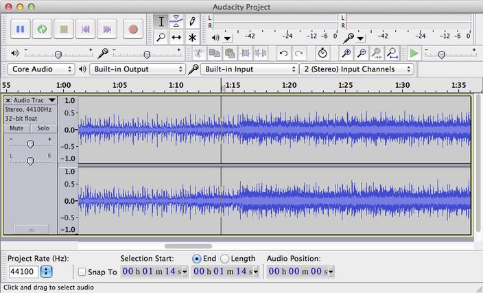 Audacity для Mac OS X