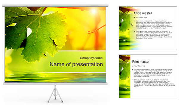 free powerpoint template Autumn Leaves