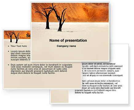 free powerpoint template Desert Trees