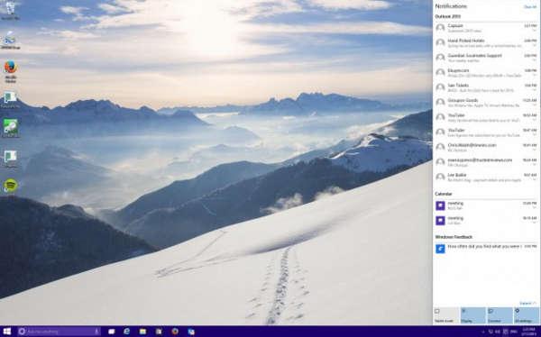 Windows 10 центр уведомлений
