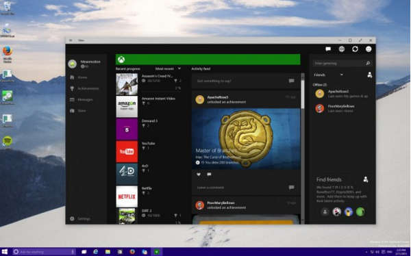 Xbox в Windows 10
