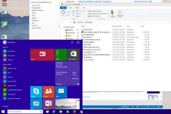 Дизайн Windows 10 Technical Preview