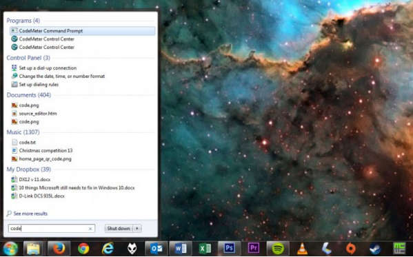 Поиск и меню Пуск Windows 7