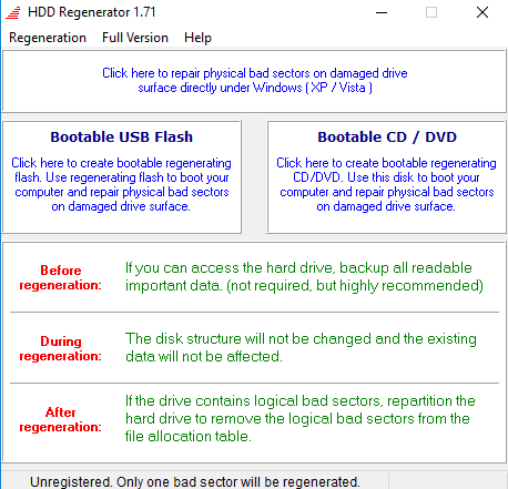 hdd-regenerator