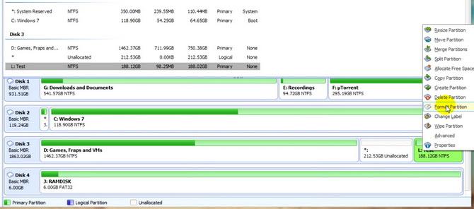 Сторонний софт для форматирования