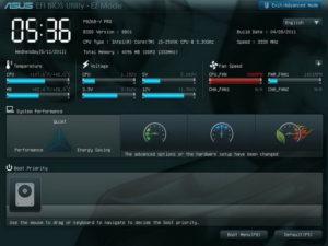 Сигналы UEFI BIOS