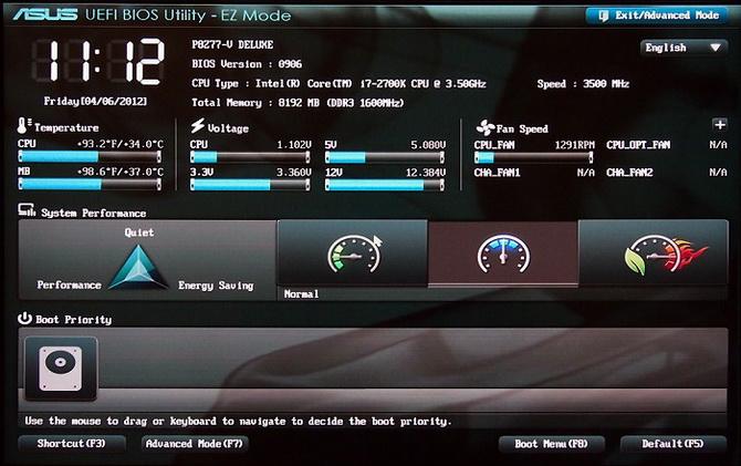 Версия системы в UEFI