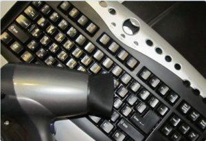 Продуваем клавиатуру