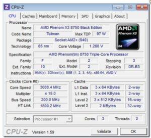 Используем программу CPU-Z