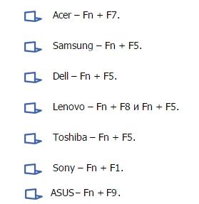 Как включить тачпад на ноутбуке windows 8