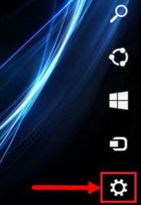 Открываем панель в Windows 8
