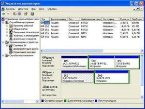 Диспетчер управления дисками