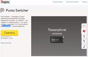 Используем Punto Switcher