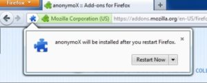 Установка anonymoX