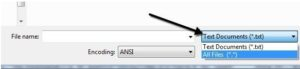 Выбор типа файла