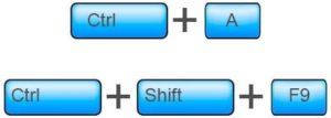 Используем комбинацию клавиш