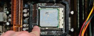 Снимаем процессор