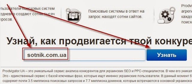 Сайт Prodvigator