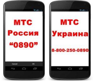 Номера звонков оператору