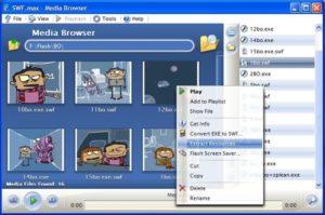 Приложение SWFmax Player