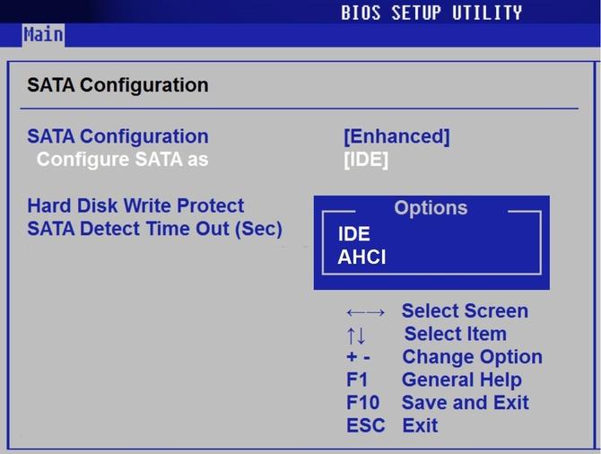 Используем BIOS