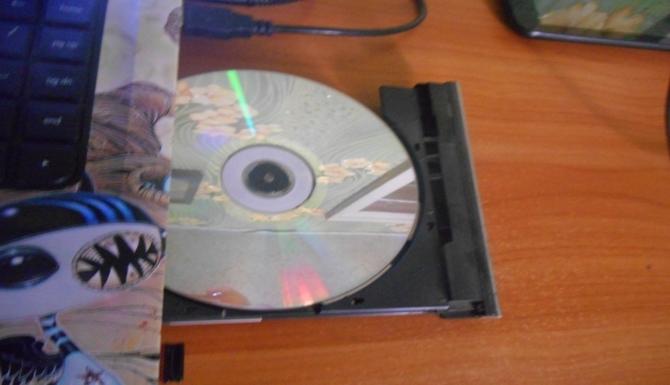 Установка диска