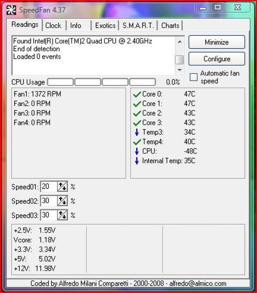 Определяем температуру с SpeedFan