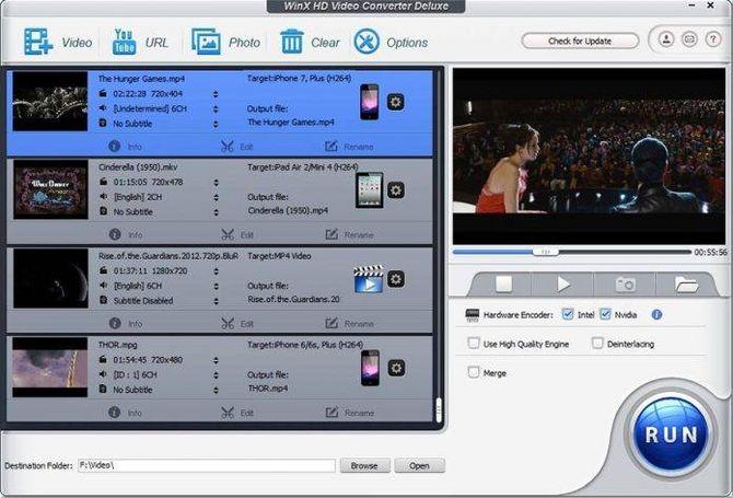 Приложение WinX Video Converter