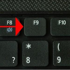 Клавиша F9 для ноутбуке