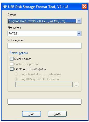 Утилита USB Disk Storage Format Tool