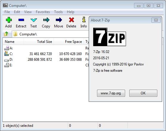 Архиватор 7-Zip Portable