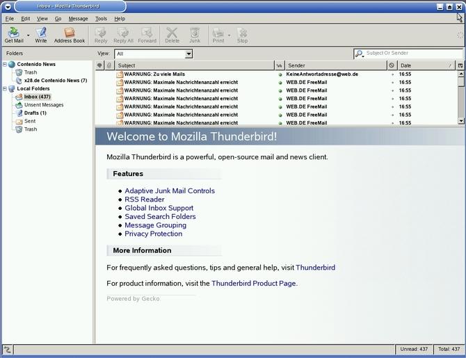 Почтовик Mozilla Thunderbird