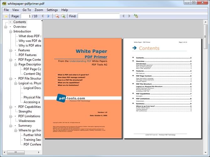 Приложение Sumatra PDF
